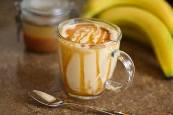 Pasta de amendoim com banana